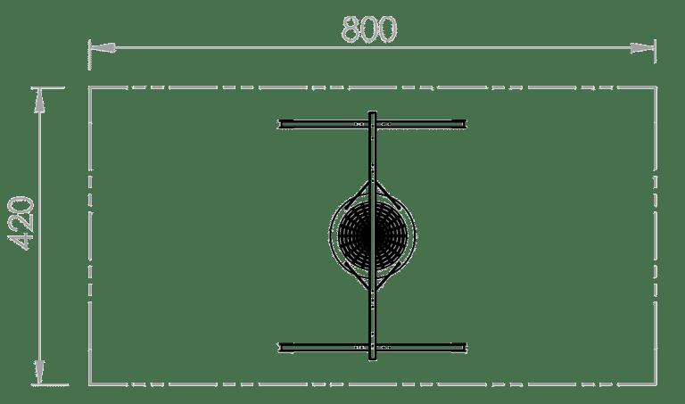 Nestschaukel - Skizze