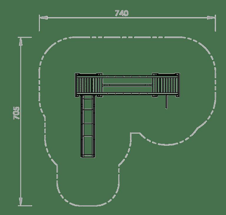 Doppelturmanlage David bei FREISPIEL Skizze
