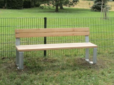 Sitzbank Optica mit Lehne für Erwachsene von FREISPIEL