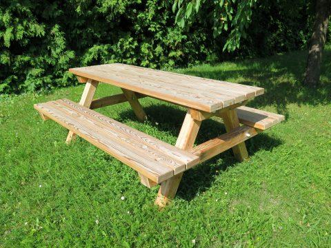 Tisch-Bank-Kombination aus Holz bei FREISPIEL kaufen