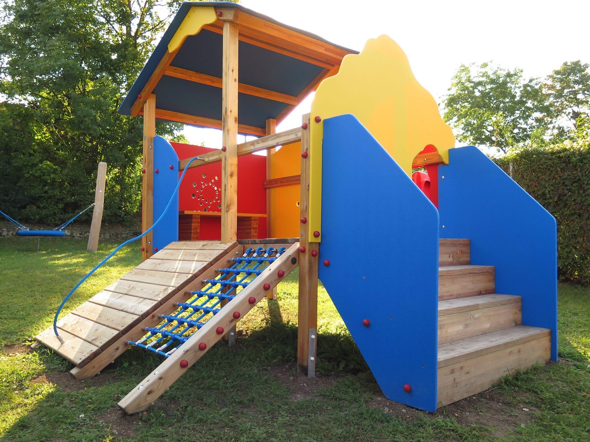 Spielgerätkombination Doppel-Turmanlage Sandra von FREISPIEL, dem Spielplatzbauer, kaufen