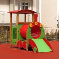Spielkombination Lokomotive für Kinderspielplätze von FREISPIEL