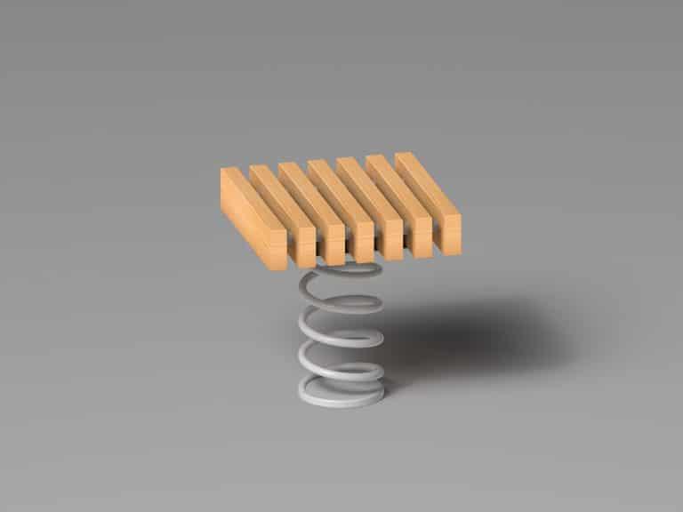 Sit & Move Bench 46 x 46 cm Produktzeichnung