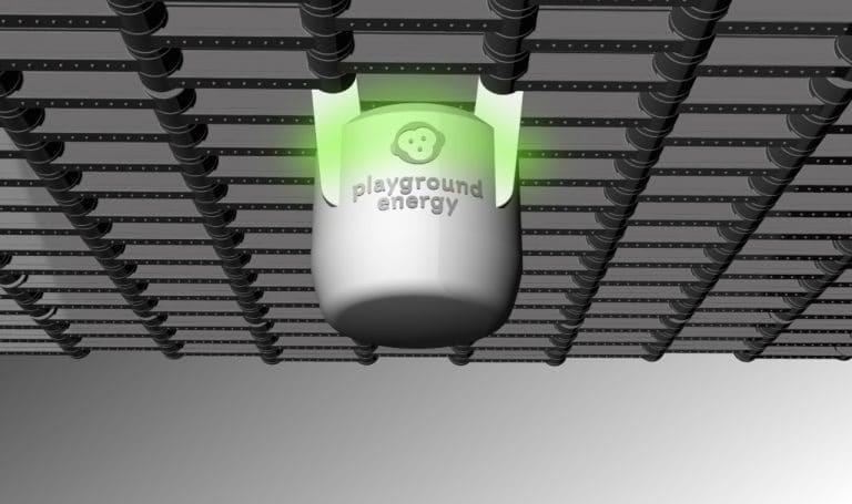 Lichtgenerator für Trampolin: playground energy