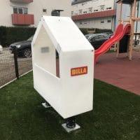 Smile Kinetic Lumi Solar Bench von FREISPIEL mit Branding