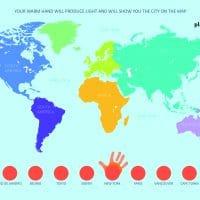 Smile Kinetic Map Weltkarte