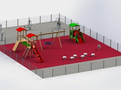 Planung Spielplatz und Fittnessanlage