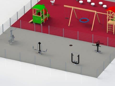 Planung Spielplatz und fittnessparcours