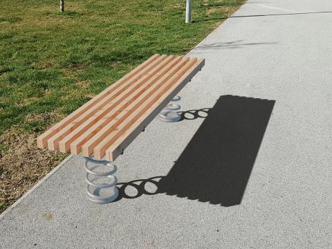 Sit & Move Bench 180x43cm Seitenansicht