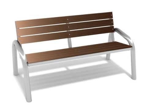 FREISPIEL - Parkbank aus Holz - Modell